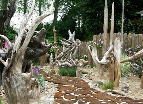 impressive stumpery garden decorations creative