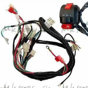 Full Electrics Wiring Harness 50cc  70  110cc U0026switch Atv
