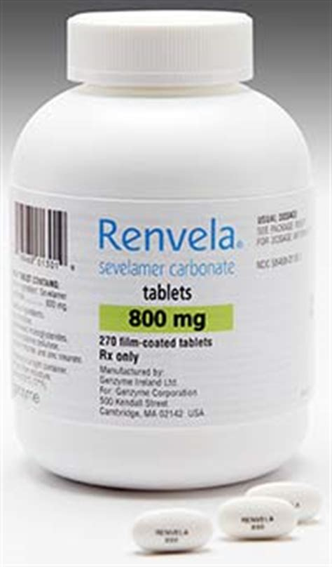 RENVELA Dosage & Rx Info | Uses, Side Effects - Renal and ...