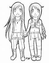 Twins Chibi Valentine Lineart Mila Deviantart sketch template