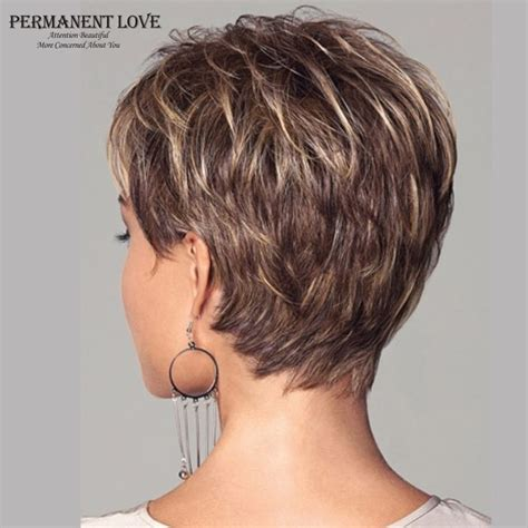 womens synthetic short wigs pixie cut hairstyle blonde