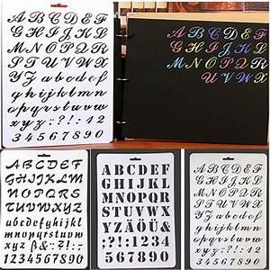 diy letter alphabet number layering stencils for wall With diy letter stencils for walls