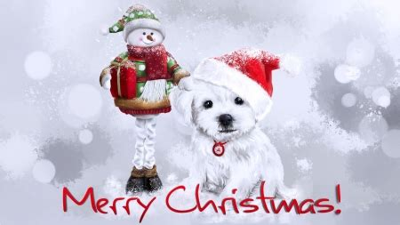 merry christmas dogs animals background wallpapers desktop nexus image 2341076