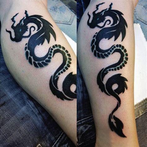 tribal dragon tattoo designs  men mythological ink ideas