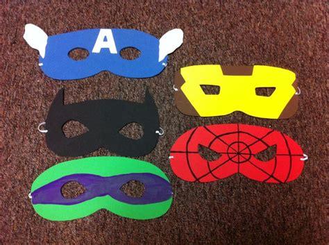 Foam Superhero Mask Template