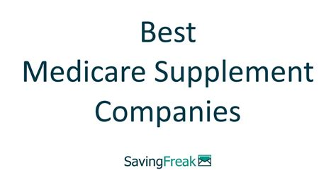 Get to know the 10 best medicare supplemental insurance companies in 2020. Best Medicare Supplement Companies Top 10 for 2019