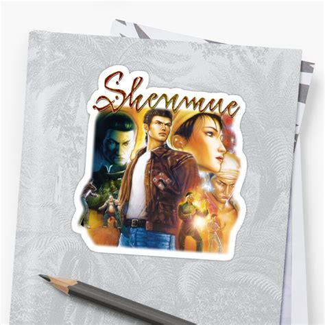 Shenmue 2 Box Art Sticker By Mouseteeeeeth Redbubble