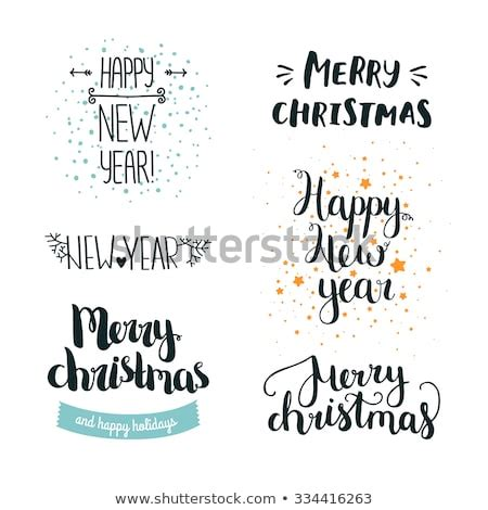 Seeking for free merry christmas png images? Set Of Hand Drawn Merry Christmas And Happy New Year ...