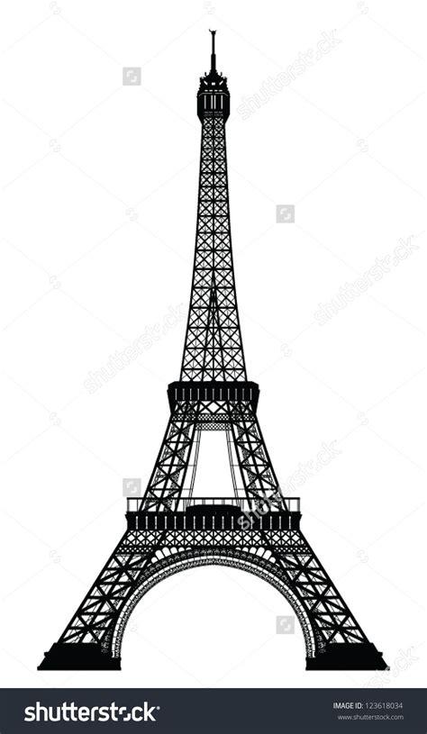 Sprei Eiffel Tower eiffel tower black silhouette vector illustration dise 241 o