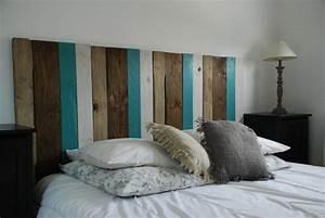Tete De Lit En Bois : fabriquer tete de lit avec palette 2017 avec comment faire une tete de lit en bois des photos ~ Teatrodelosmanantiales.com Idées de Décoration
