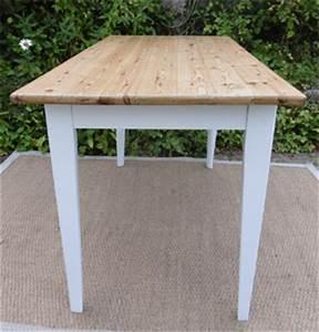 Table Bois Pied Blanc : belle petite table ancienne rectangulaire ~ Teatrodelosmanantiales.com Idées de Décoration