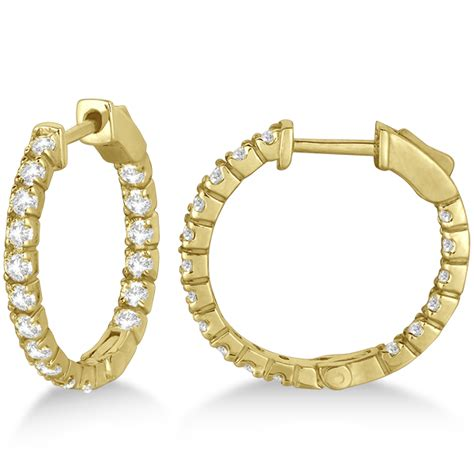 Fancy Small Round Diamond Hoop Earrings 14k Yellow Gold 1. Rosefield Watches. Barse Bracelet. Man Bangles. Heart Engagement Rings