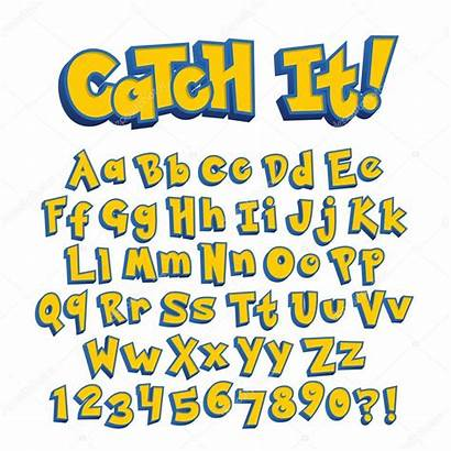 Pokemon Font Alphabet Birthday Letters Svg Illustration
