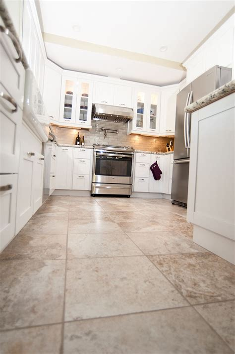 white cabinets tile floor home classic home ideas kitchen flooring white 349 | c90f5064d28c88348e3552e7797515fd