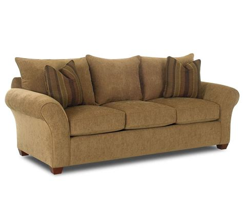 Comfortable Settee Comfortable Stationary By Klaussner Wolf And