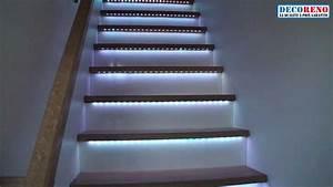 éclairage Escalier Extérieur : les rubans led l 39 clairage id al pour votre escalier ~ Premium-room.com Idées de Décoration