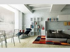 Stunning White Brick Wall Modern Bedroom Rug Ivailo