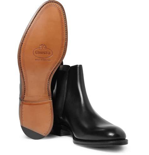 churchs beijing leather chelsea boots  black  men lyst