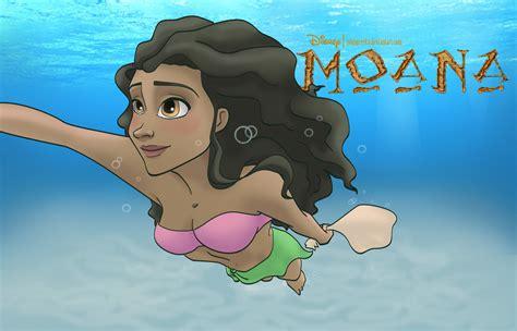 moana swimming moana photo 37504111 fanpop