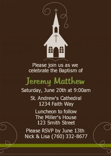 church baptism christening invitations candles  favors