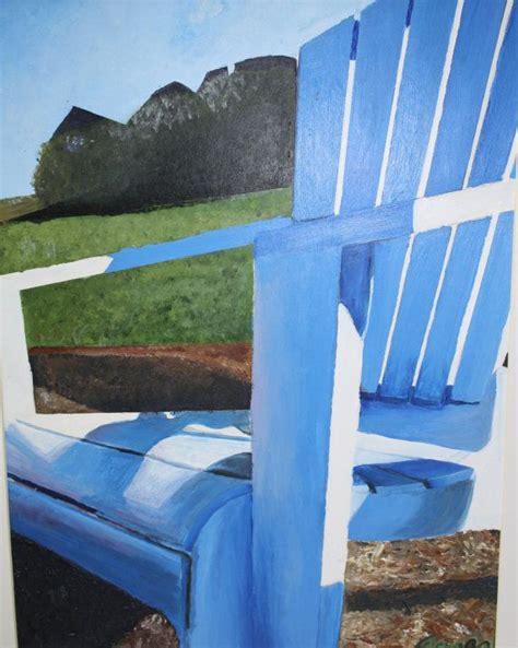 adirondack chair painting print acrylic painting 11x14