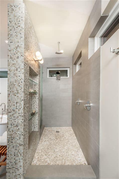 interior house decorations open walk in shower transitional bathroom dallas