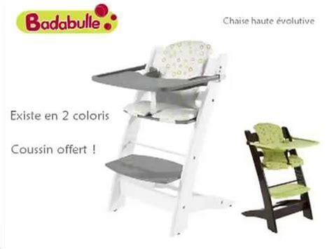 oclio chaise haute 233 volutive by badabulle