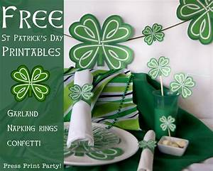 Free St Patrick's Day Shamrock Party Printables - Press