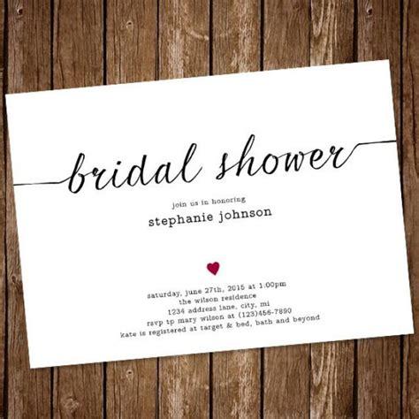 invitation simple bridal shower invitation 2417404