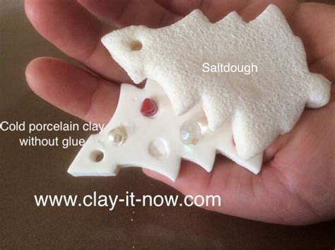 cold porcelain  glue    saltdough