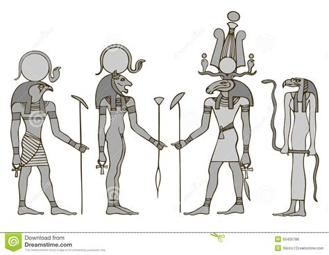 Gods Of Ancient Egypt Stock Vector - Image: 55405786