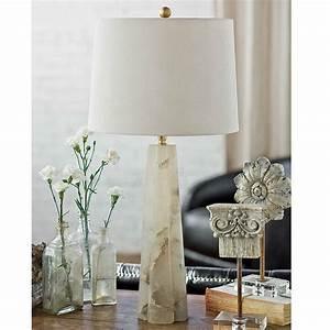 Regina, Andrew, Alabaster, Quatrefoil, Table, Lamp, Small