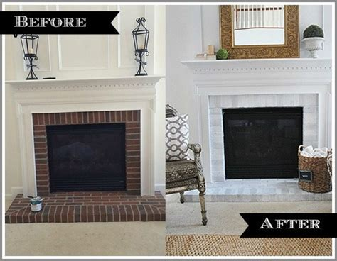 marble fireplace surround and wooden white mantel with lucite table and zebra diy fireplace makeover via mohawk creative home 11