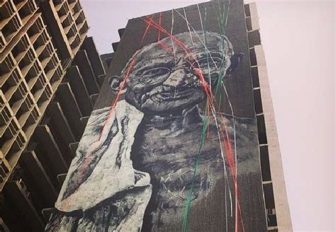 street art gandhi takes  police hq art agenda