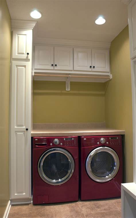 laundry room after makeover design with white wall mounted