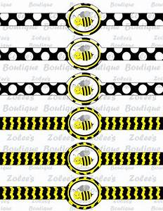 Printable DIY Personalized Party Supplies - Bumble Bee