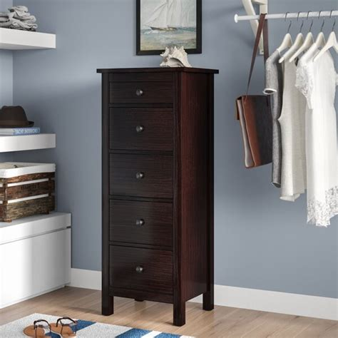 6 Inch Wide Drawers by Beachcrest Home Bryant 5 Drawer Chest Reviews
