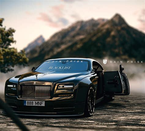 murdered rolls royce wraith widebody rolls royce wraith is completely blacked out