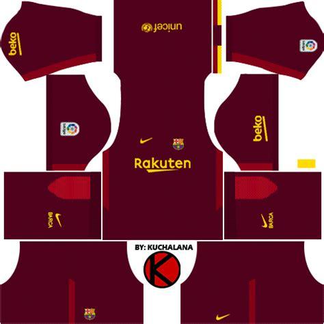 barcelona nike kits 2017 2018 league soccer poster