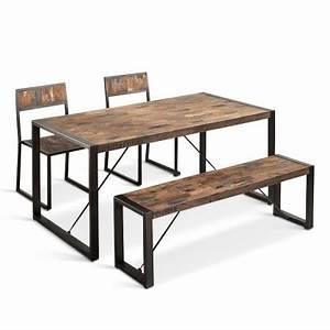 Tisch Metall Holz : neu esszimmer tisch holz metall vintagelook 180 cm isa big ~ Whattoseeinmadrid.com Haus und Dekorationen