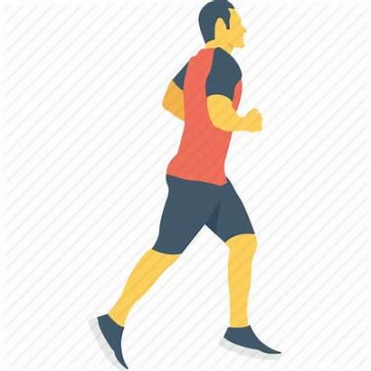 Walking Icon Sportsman Racer Runner Icons Human