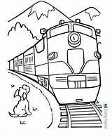 Coloring Train Printable Pages Trains Below sketch template
