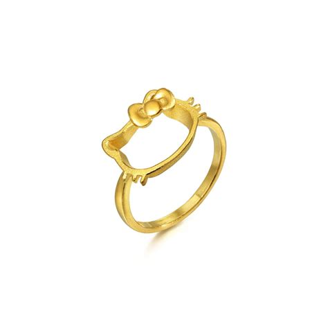 sanrio  kitty  gold ring chow   jewellery eshop
