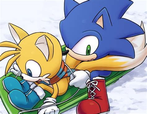 It's A Snowy Day, So Sonic And Tails Are Gonna Go Sledding