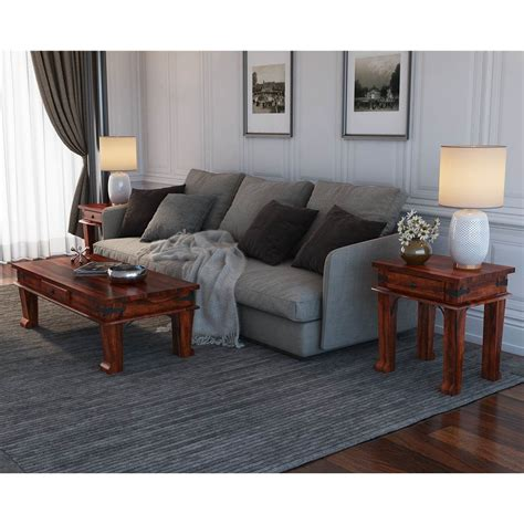 Our collection of unique coffee tables come in elegant marble, gold, wood and more. Cotesfield Midcentury Rustic Solid Wood 3 Piece Coffee Table Set