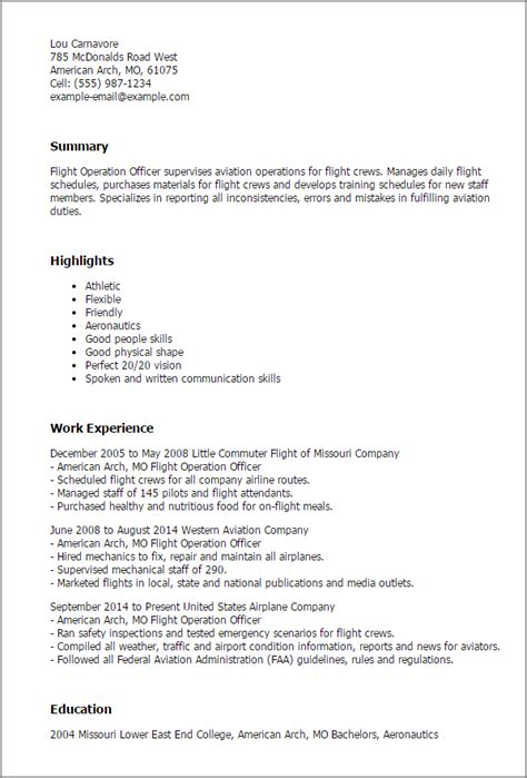 flight coordinator cover letter 1 flight operation officer resume templates try them now