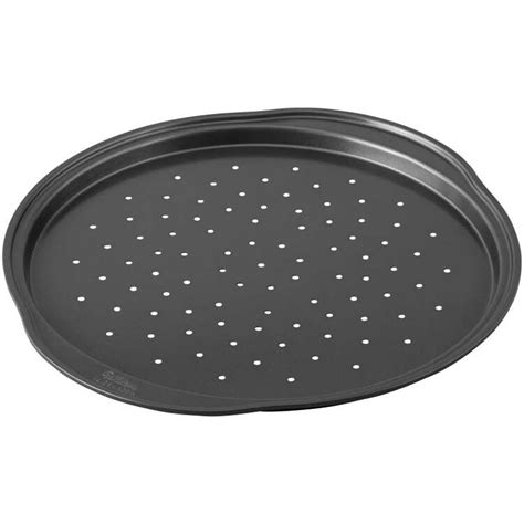 perfect results  stick   pizza pans  holes