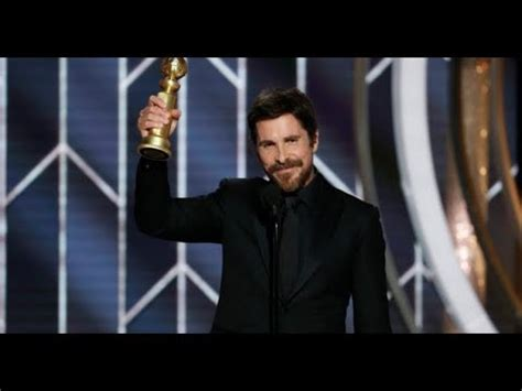 Christian Bale Thanks Satan Acceptance Speech Golden