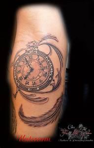 Tattoo Feder Unterarm : unterarm taschenuhr tattoorosenheim tattoochris christattoo forlifecolor ~ Frokenaadalensverden.com Haus und Dekorationen