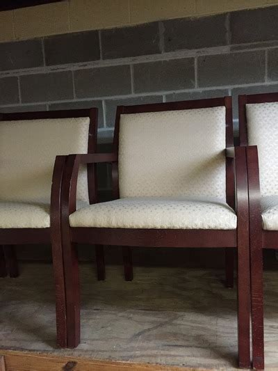used wood lobby office chairs for sale